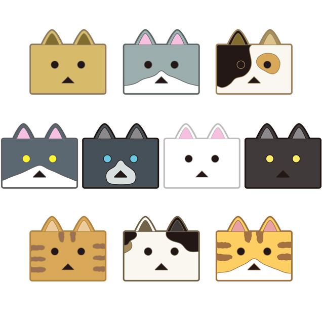 貓咪阿愣 橡膠磁貼 (1細盒2款入)